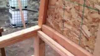 Roof Truss build-in on the partially prefabricated off grid cabin