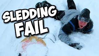 Sledding Fail