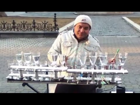 Awesome Wine Glass Music: Glass Xylophone!