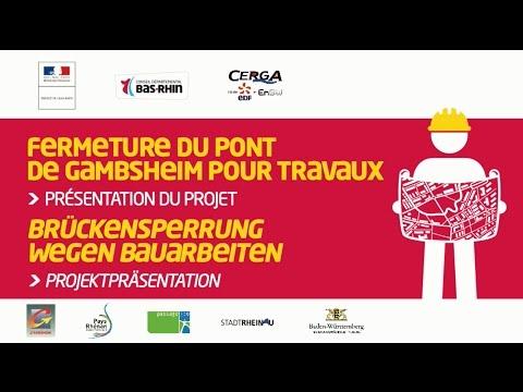 Presentation Du Projet De Travaux Sur Le Pont De Gambsheim