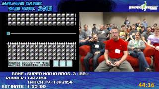 Super Mario Bros 3 SPEED RUN 100% in 1:20:48 by tjp7154 (Awesome Games Done Quick 2013)