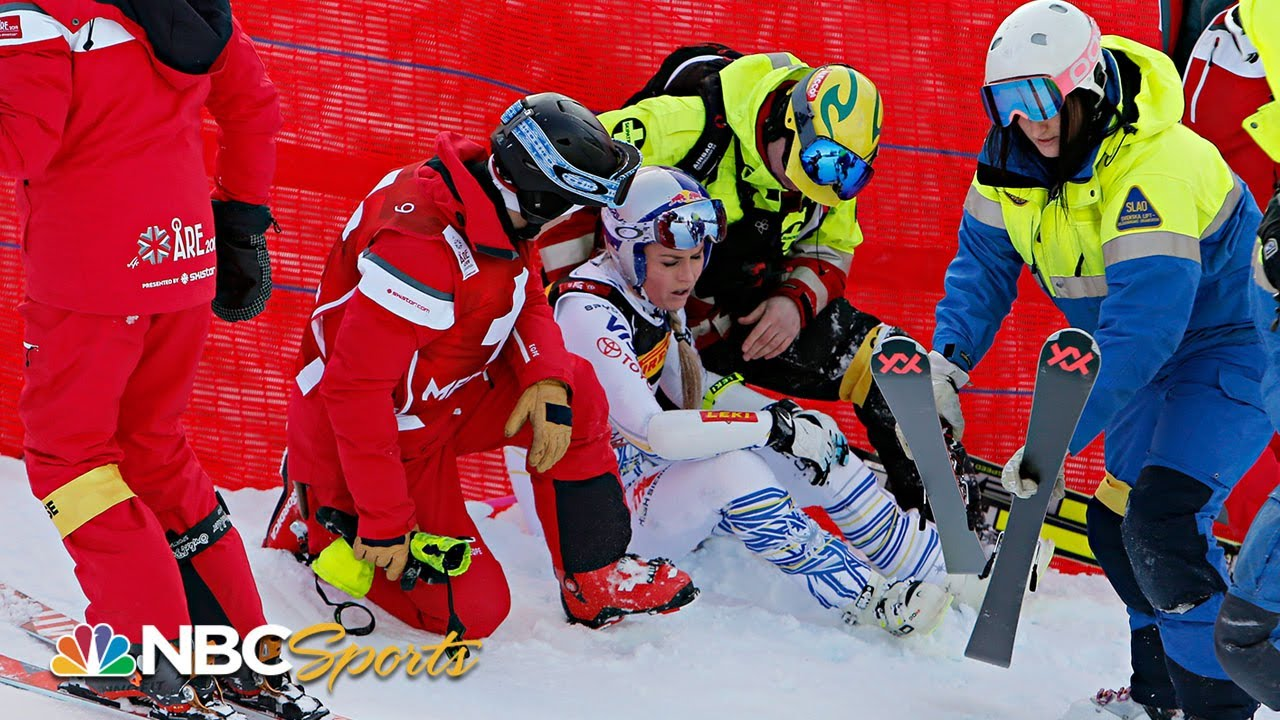 Lindsey Vonn crashes out of penultimate race at world championships