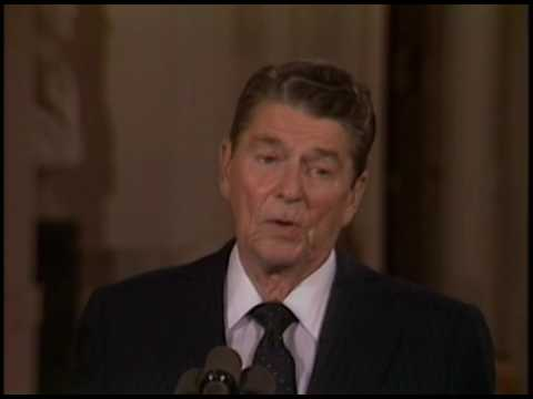 President Reagan's Press Conference in the East Room on September 17, 1985