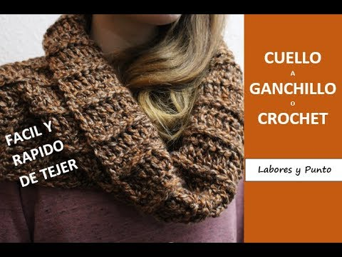 gran selección de 36057 f969a Cuello cubre- hombros a ganchillo o crochet-LABORES Y PUNTO ...