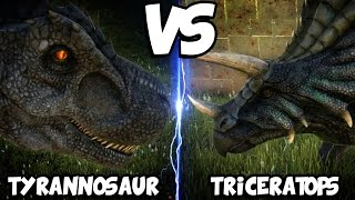 ARK Dinosaur Battle Arena | TYRANNOSAUR VS TRICERATOPS