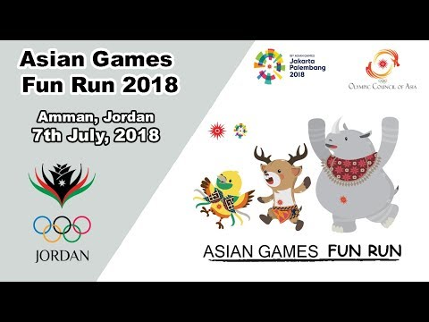 2018 OCA Fun Run Asia Games In Amman, Jordan.