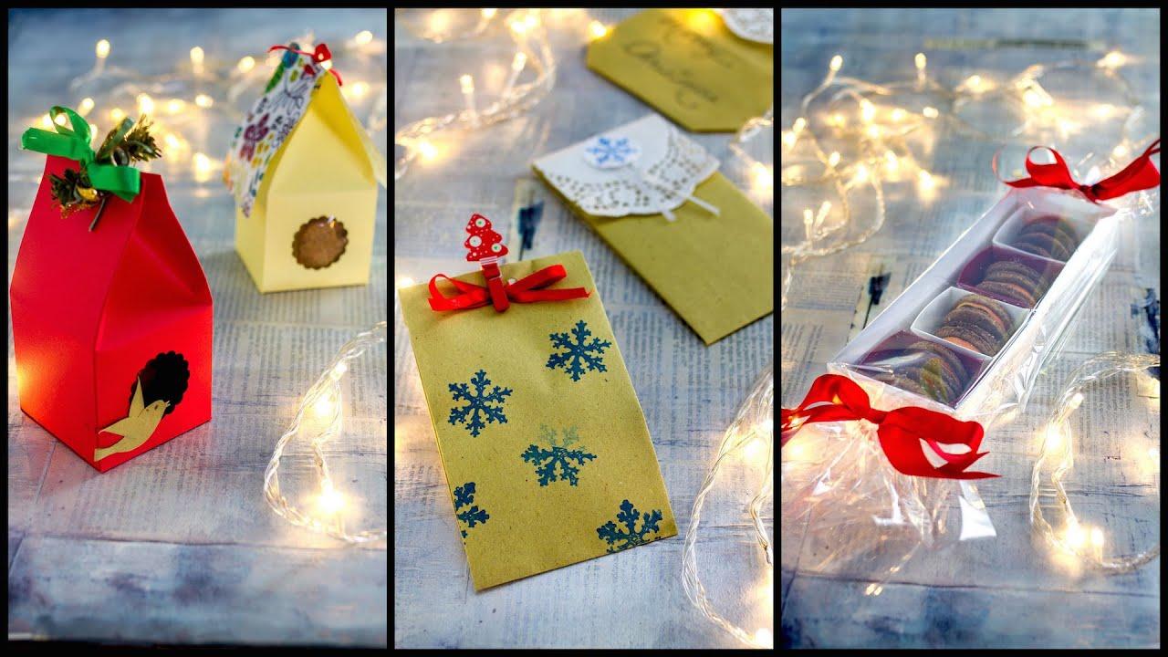 Idee Per Confezionare Biscotti Di Natale.3 Idee Per I Regalini Di Natale Facili Economiche Youtube