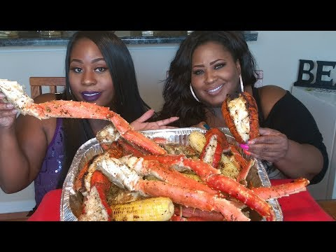 KING CRAB LEGS AND LOBSTER TAIL MUKBANG!!!!!!!!