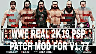 WWE REAL 2K19 PSP PATCH FOR GAMERNAFZ V1.77 BY SVR TECHNICAL