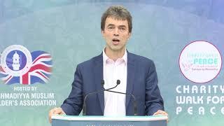 Tom Brake MP Ansar Charity Walk Cheque Presentation 2018