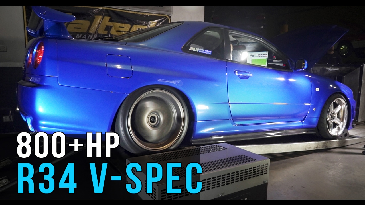 Nissan R34 GT R V Spec | 800+hp Skyline   YouTube