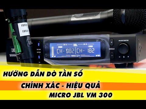 Cách kết nối và cài đặt lại tần số cho Micro không dây JBL VM300