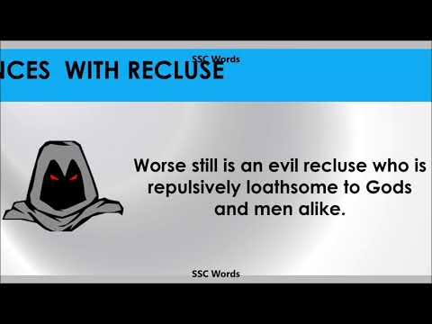 recluse---improve-english---meaning-and-5-sentences---gre-/-cat-/-gmat-word---ssc-words