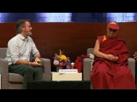 Power and Care - Olafur speaking to Dalai Lama as part of Mind and Life Dialogue, Brussels, 2016