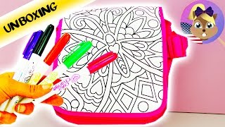 Design your own bag | Color me mine | Make a cool and colorful handbag | Unboxing