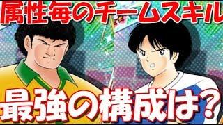 【たたかえドリームチーム】実況#592 属性毎のチームスキルの可能性について話します。【Captain tsubasa dream team】