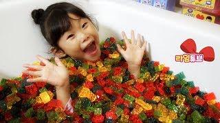Block Jelly Bath! Alphabet song, Baby Shark Family Song! ABC Song for Kids Nursery Rhymes
