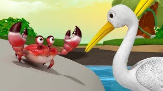 The Crane and the Crab | Stories for Kids | Moral Stories | Infobells
