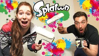 SPLATOON CHALLENGE en COUPLE in REAL LIFE !! CA TOURNE MAL !