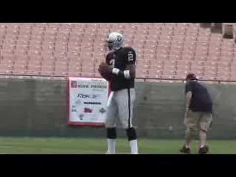 Topps 2007 NFL Rookie Photo Shoot with JaMarcus Russell