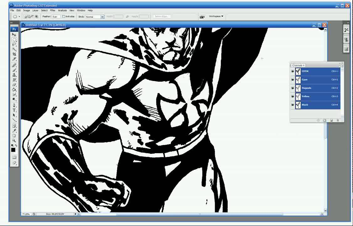 Coloring Comics In Photoshop Tutorial 1 Getting Started