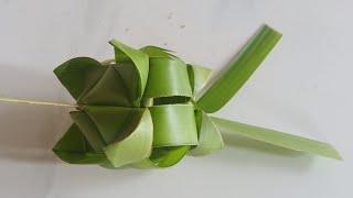 Nghệ thuật làm hoa treo trang trí cổng bằng lá dừa đơn giản đẹp (c. 2) #TOITNT