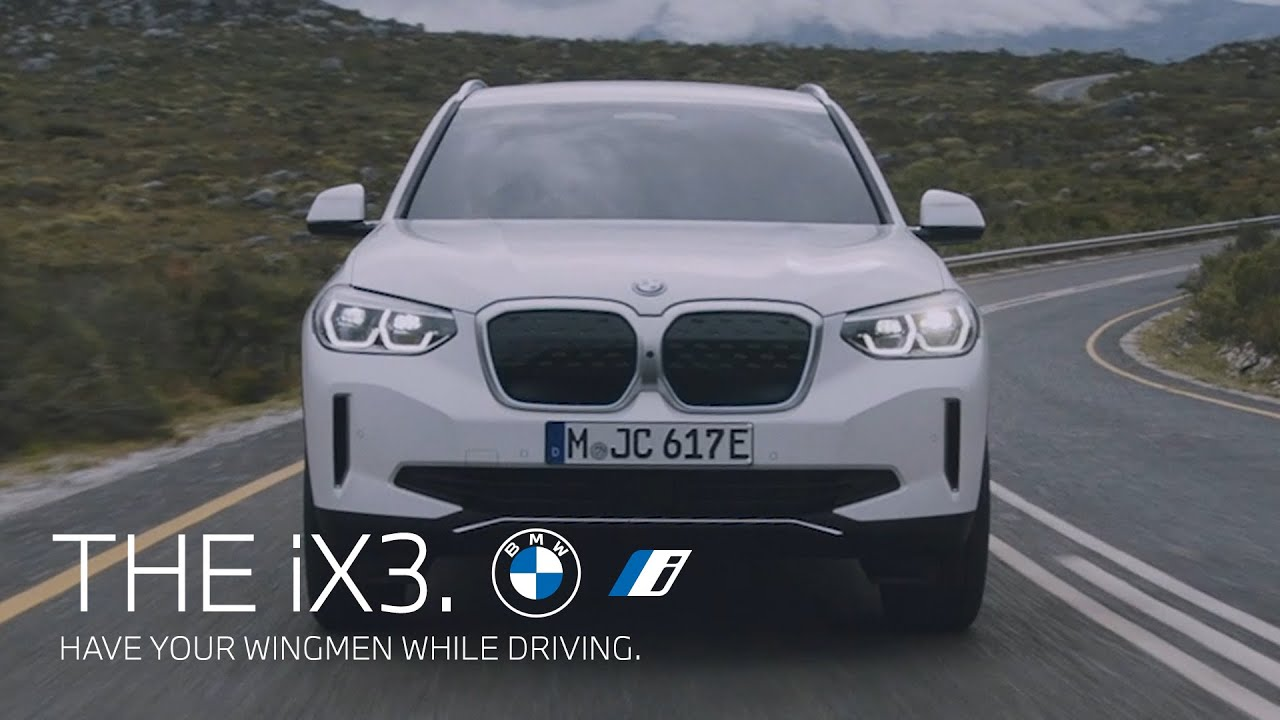 Have your wingmen while driving. The first-ever BMW iX3.
