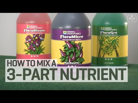 How To Mix a 3-Part Hydroponics Nutrient Solution - YouTube