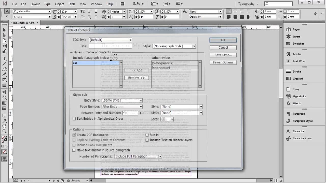 Table Of Contents Indesign Cc Tutorial 20 20 Youtube