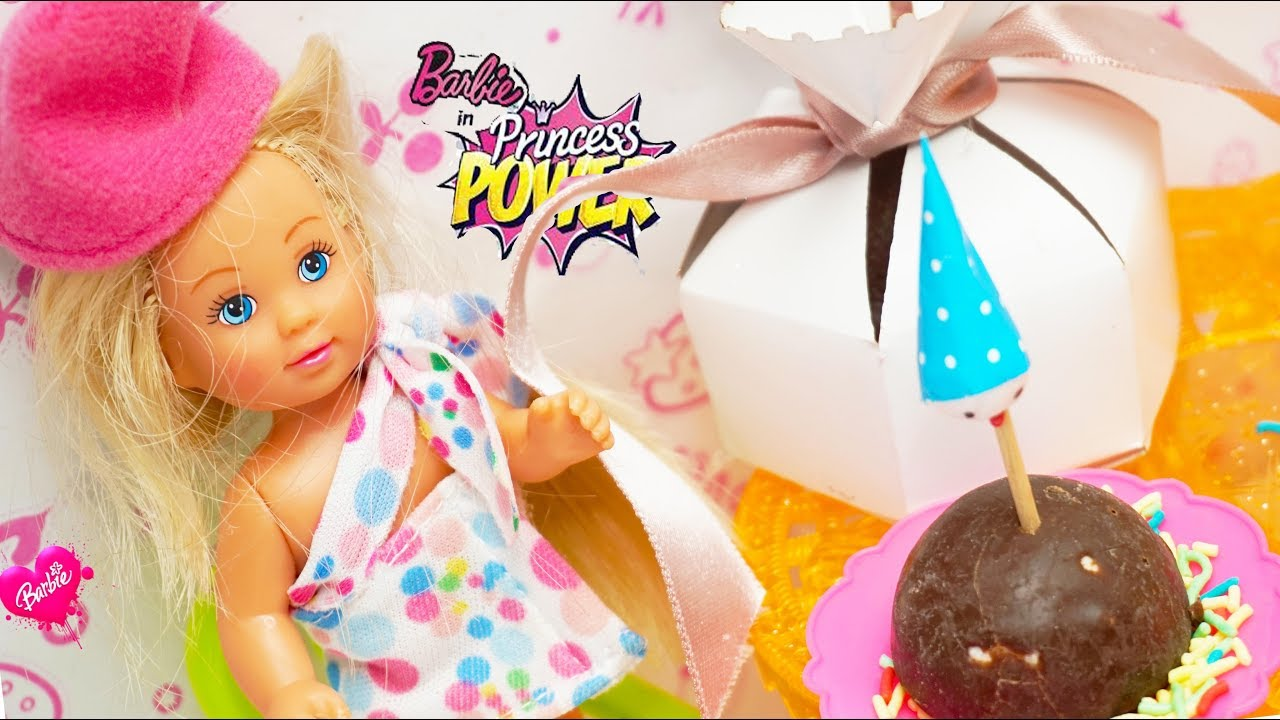 Bayi Barbie Membuat Kue Ulang Tahun Anak Anak Memasak Mainan Baby Barbie Toys Kids Cooking Toys Youtube