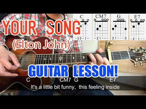 Guitar guitar chords your song : Guitar Lesson[Your Song/Elton John]-Chords,tutorial,Lyric,cover ...