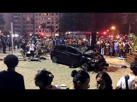 Baby killed as car hits crowd at Copacabana beach