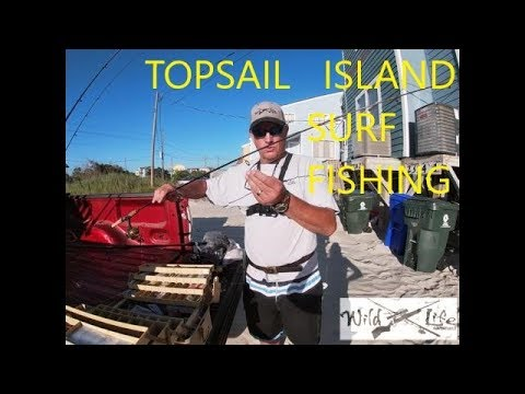SURF FISHING NORTH TOPSAIL ISLAND 2019/ Saltwater Fishing Tips / How To Catch Fish In The Surf