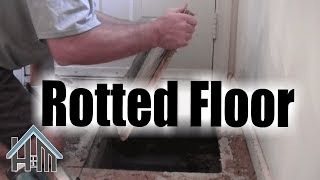 How to replace repair rotted sub floor, rotten floor. Easy! Home Mender