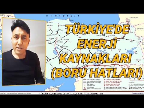 49- 2018 TÜRKİYE'DE ENERJİ KAYNAKLARI -(Boru Hatları)