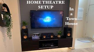 Klipsch home theatre setup 5.1.2 Atmos - Denon amp - in a townhouse