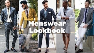 Summer Menswear Suit Ideas Collection 2018 Lookbook | Menswear Outfits