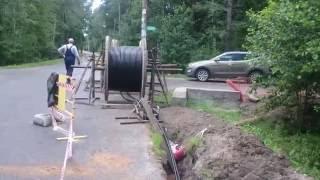 видео Прокладка кабеля 10 кв, стандарт рабочих напряжений