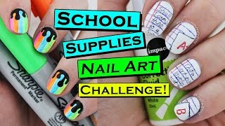 BACK TO SCHOOL Nails Using ONLY School Supplies!   Nailed It NZ Doing Simply Nailogical's Challenge