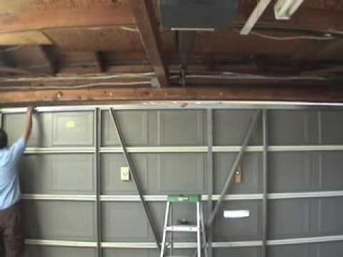 Garage Door Strut Repair Steel 1 Piece Door Mov Youtube