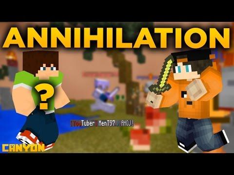 Minecraft Annihilation - Canyon | MenTovi ukradli účet a mega hacker!
