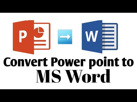 How To Convert PPT Slides Into MS Word File    Easy Steps    Tutorial Point