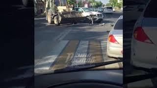 ДТП Фурмановская Ольховский BMW X6 и экскаватор   12 09 17   Это Ростов на Дону