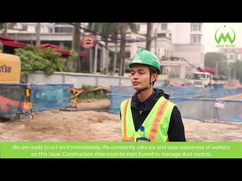 How does Metro Line 3, Nhon - Hanoi Station section control noise while construction?