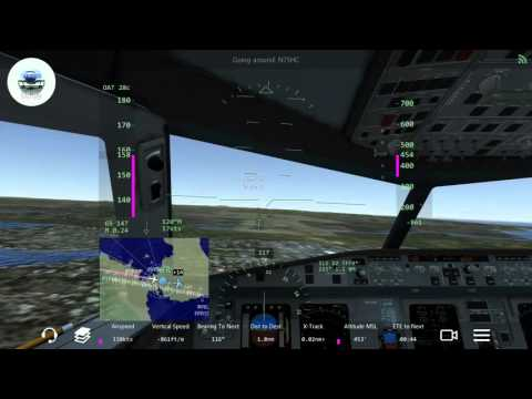 HD INFINITE FLIGHT - A320 Landing in Guadalupe. Hard Winds