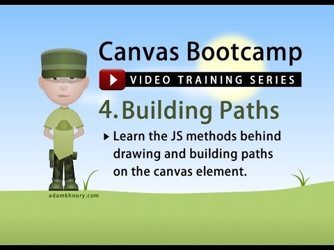 Canvas Bootcamp 4 - Building and Drawing Paths with JavaScript