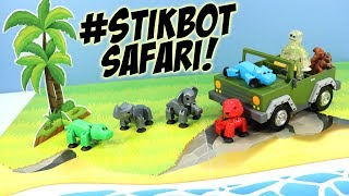 Stikbot Safari Pets Elephant Rhino Hippo and Lion Adventure
