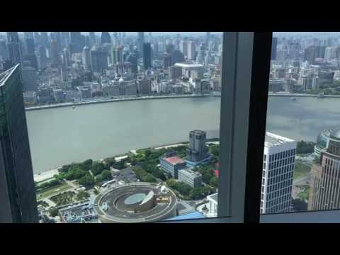 The Ritz-Carlton Shanghai Pudong Luxury Two Bed Room Tour 9-4-16