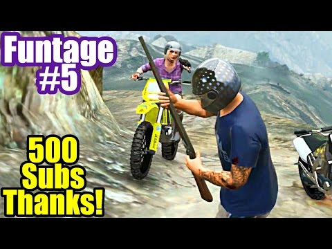 FUNTAGE #5 GTA 5 Funny Moments Montage (500 Subscribers!)