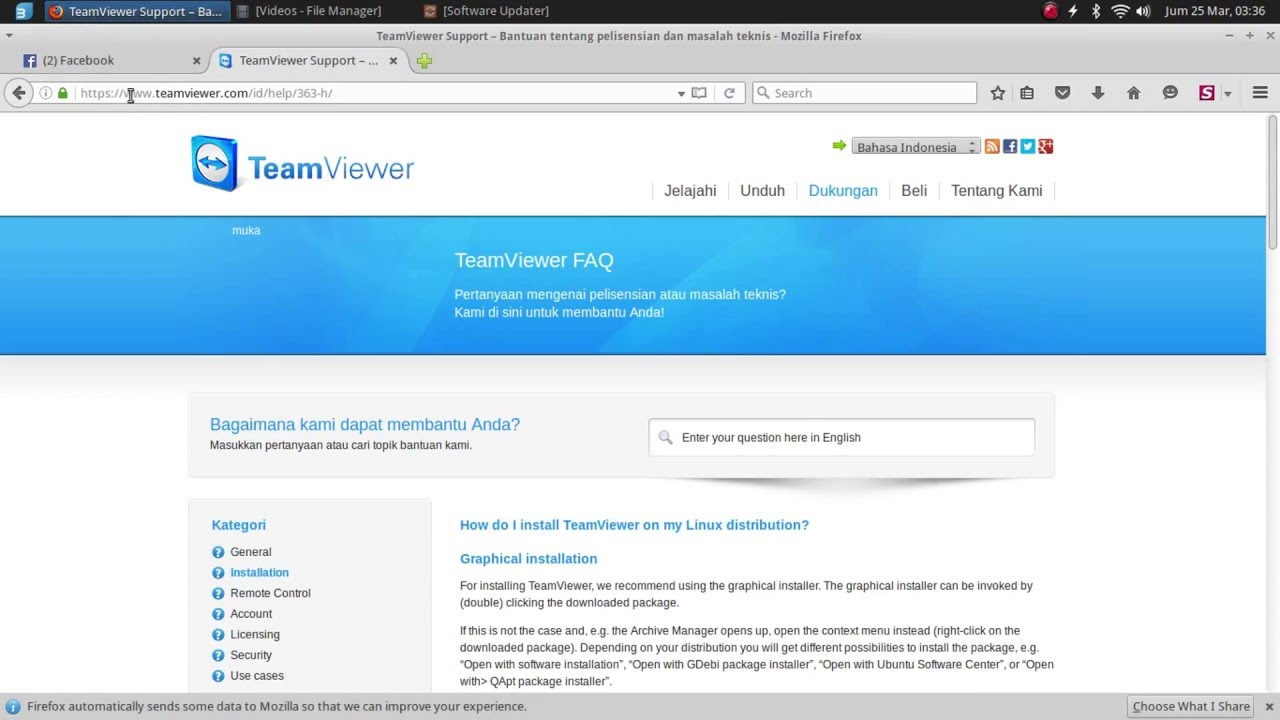 7458817aad Cara Install Team Viewer Di Linux - YouTube